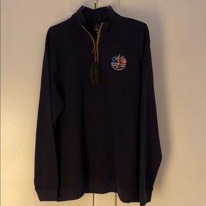 ⛳️ NWT Greg Norman Men's 1/4 Zip Navy Blue Sweater